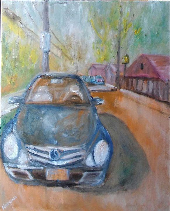 STREET PARKING-16X20-OILS - NORUWA ARTS