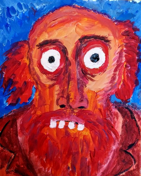 Portrait of an unknown brut artist - My ugliest drawings