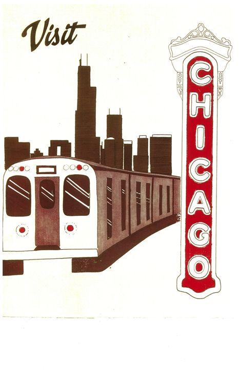 Visit Chicago - Nate Stevens Art