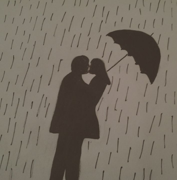 Love in the rain - Holly's Gallery of Art