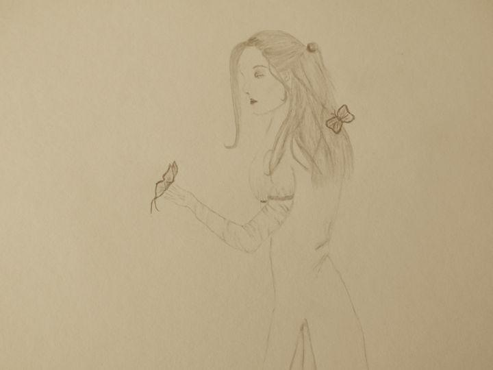 Woman/Butterflies - Holly's Gallery of Art