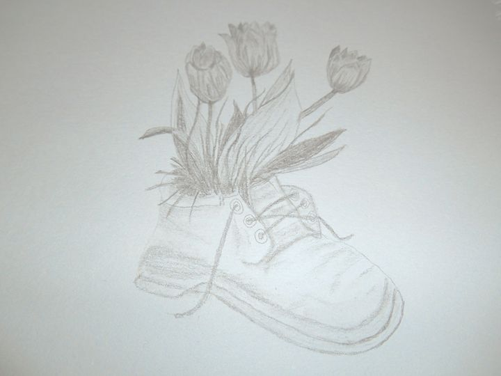 Floral Boot - Holly's Gallery of Art
