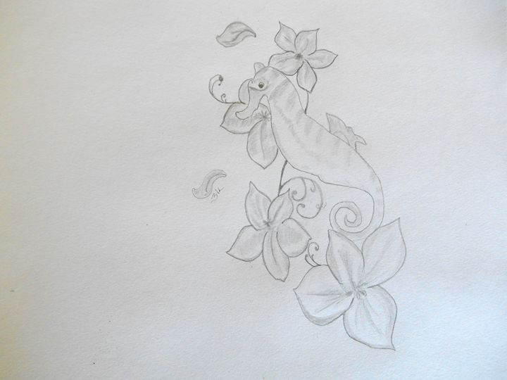 Floral Seahorse - Holly's Gallery of Art