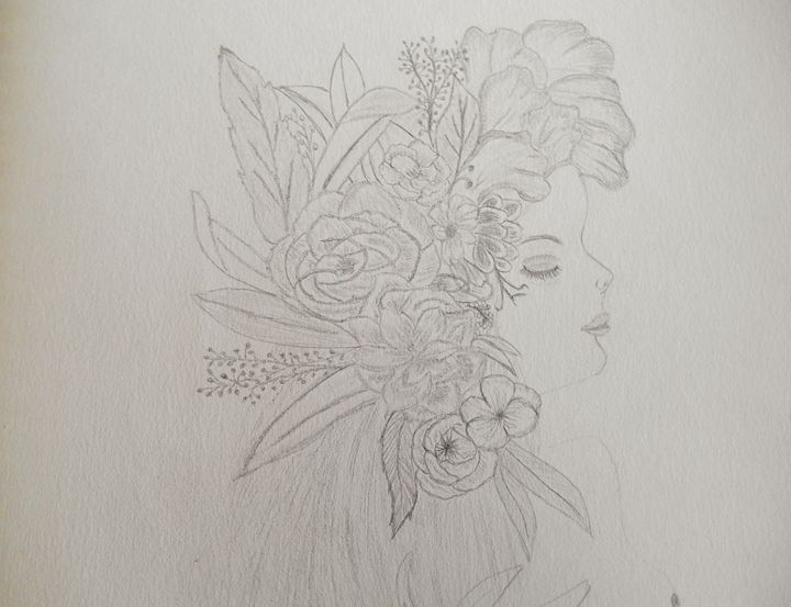 Floral Woman - Holly's Gallery of Art