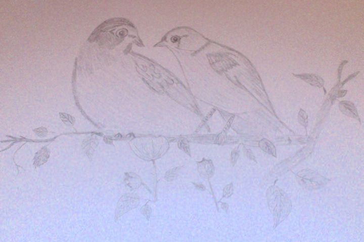 Love Birds - Holly's Gallery of Art