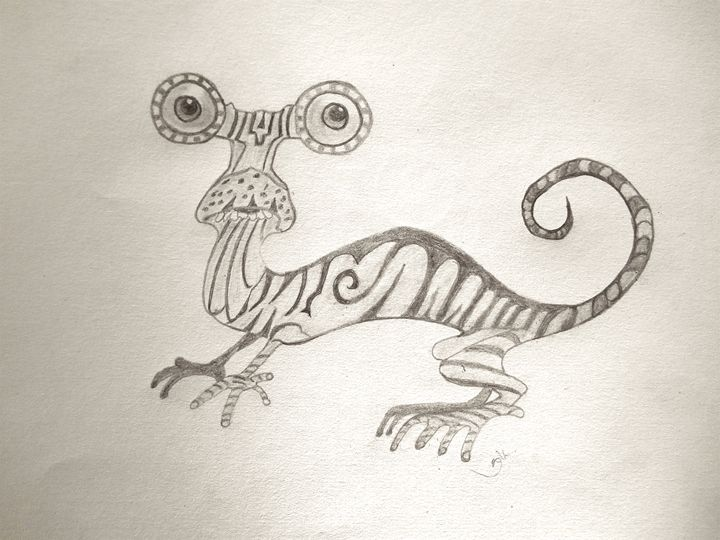 Izzy the Lizard - Holly's Gallery of Art