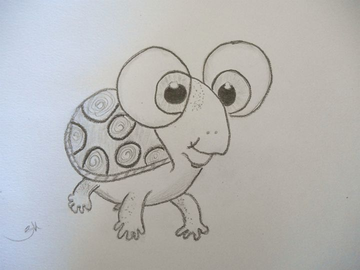 Tindi the Turtle - Holly's Gallery of Art