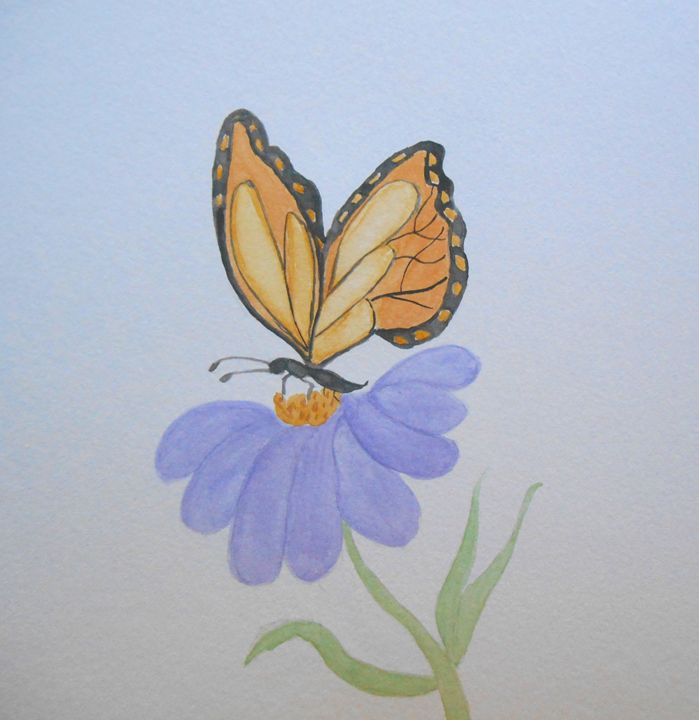 Butterfly/Flower - Holly's Gallery of Art