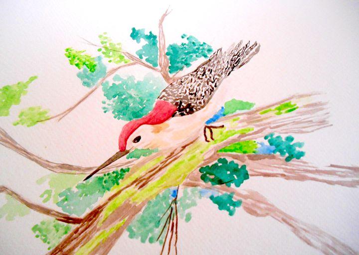 Bird in tree - Holly's Gallery of Art