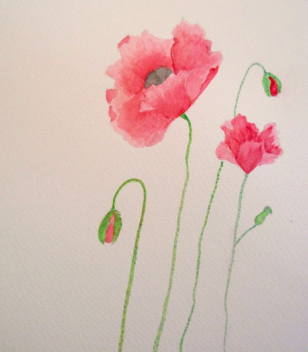 Poppies - Holly's Gallery of Art