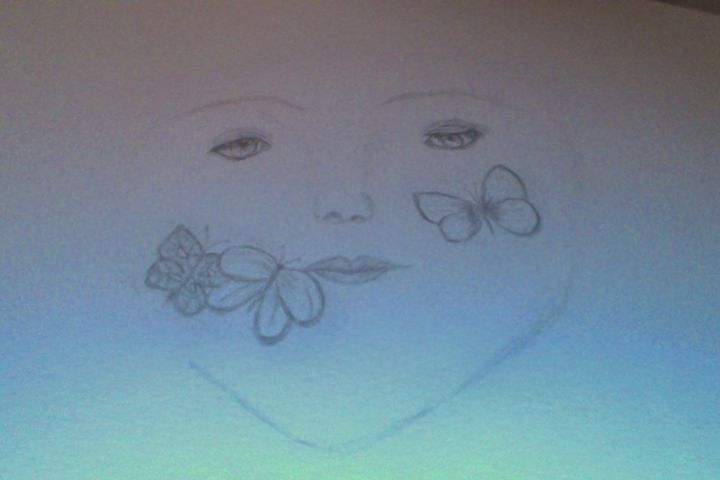 Butterfly kisses - Holly's Gallery of Art