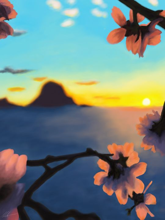 Flowers at Sunset - Novael
