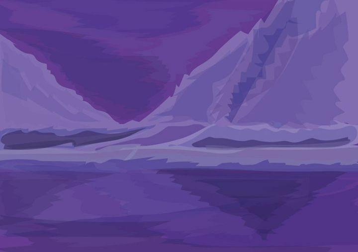 frozen mountains and water - vector artworks