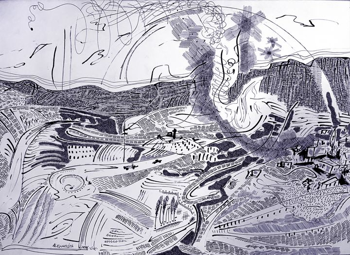 Landscape With Wind - Alex Diadav (Alexander Spivak)