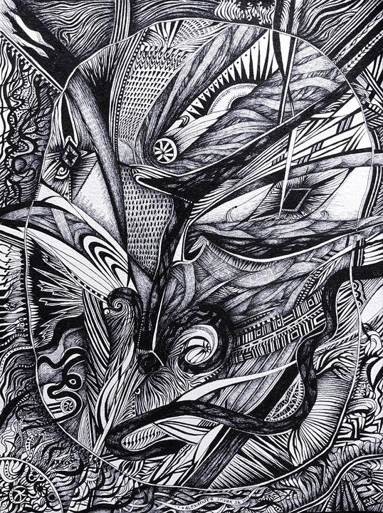 Broken Mirror Portrait - Alex Diadav (Alexander Spivak)