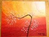20x30 Cherry Blossom Painting