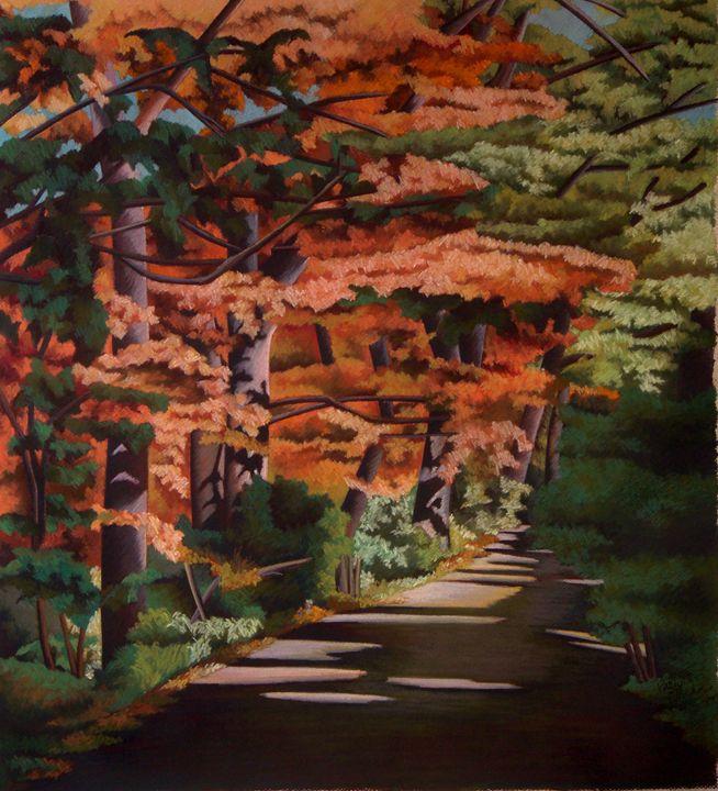 Autumn at Shadyside Park - PastelsbyFischer