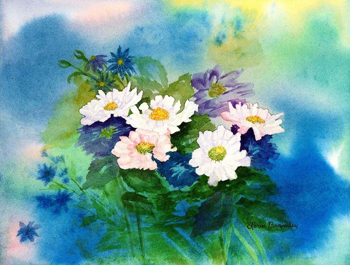 Pincushion Flowers - Lorie Bramley