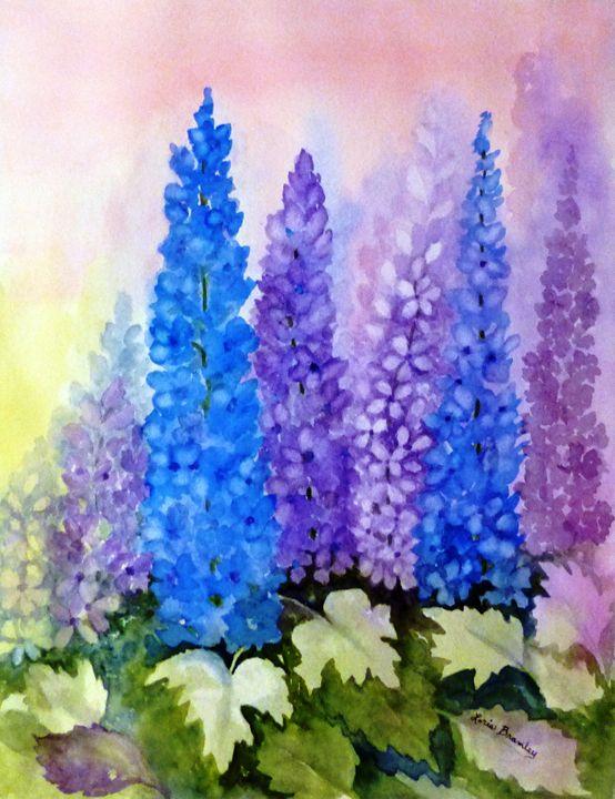Delightful Delphiniums - Lorie Bramley