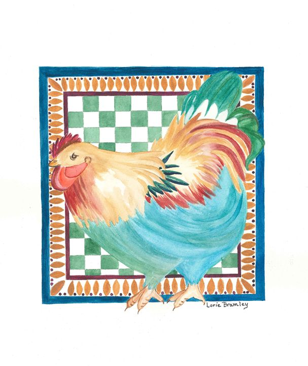 """A Rooster of a Different Color"" - Lorie Bramley"