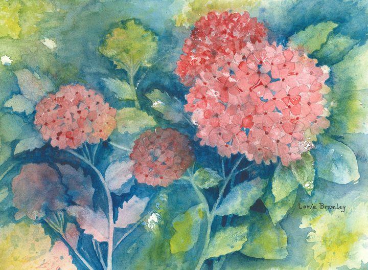 Red Hydrangea - Lorie Bramley
