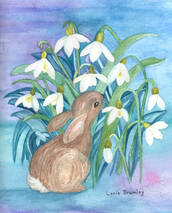 """Bunny and Snow Drops"" - Lorie Bramley"