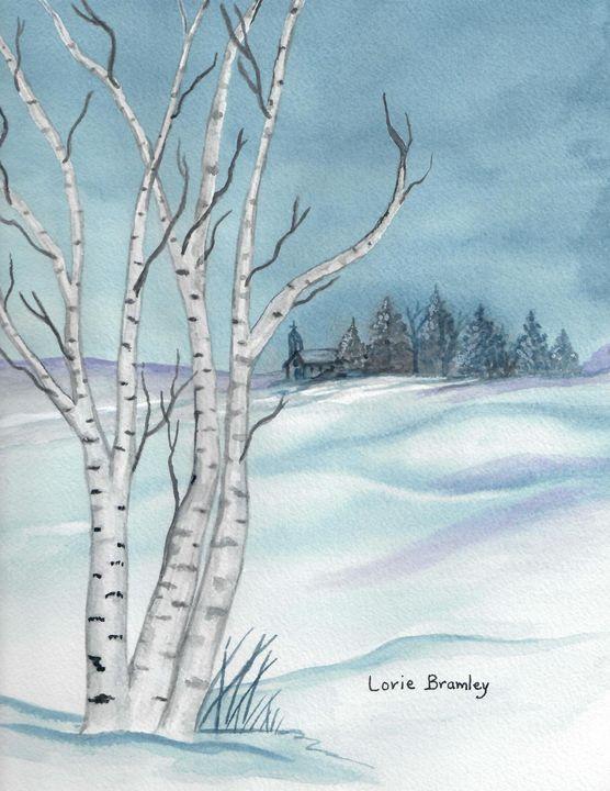 """""""Birch Tree in Winter"""" - Lorie Bramley"""