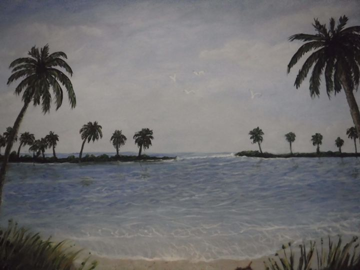 cool blue palms - Dave'sArt