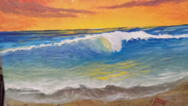 Sunset Yellow Sky - Dave'sArt