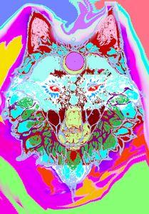 Acid Trip Spirit Wolf - Ethan