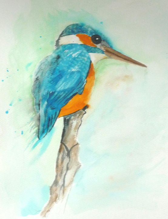 Kingfisher in France - Sheilah's Art