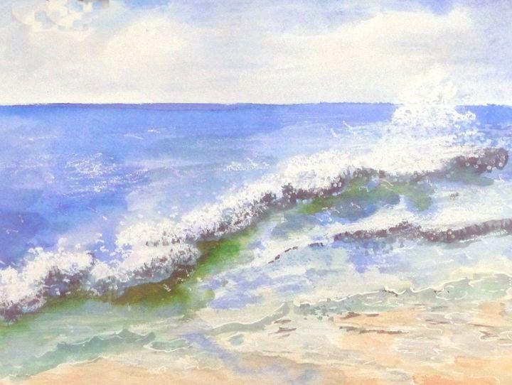 The Atlantic Sea off France - Sheilah's Art
