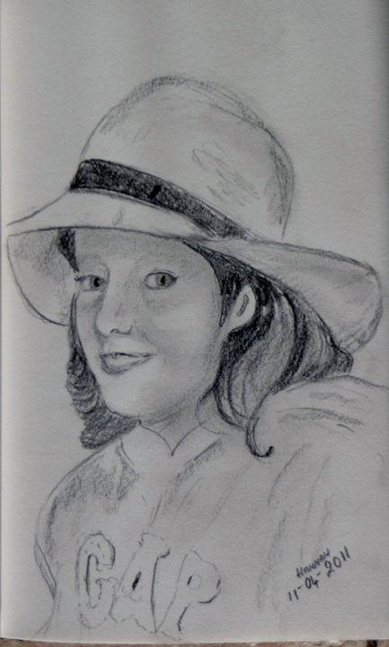 Hannah in a Hat - Sheilah's Art