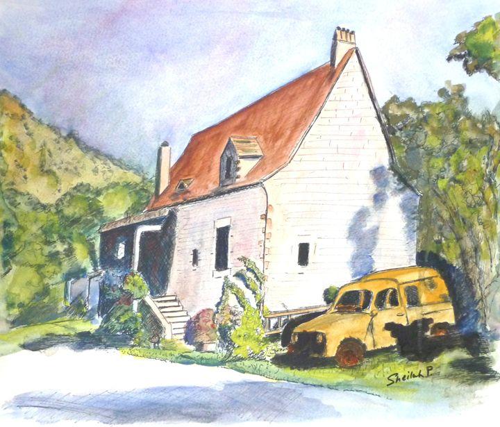 House in the Dordogn, France - Sheilah's Art