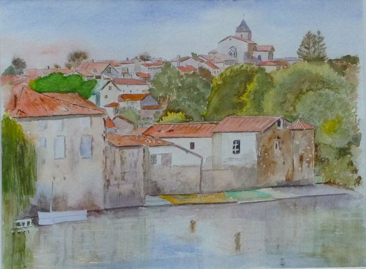 Availles Limouzine, France Watercolo - Sheilah's Art