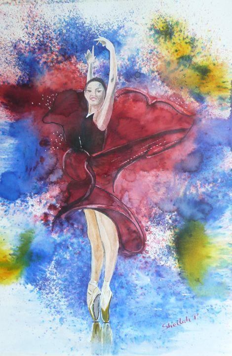 Ballerina  in Watercolour - Sheilah's Art