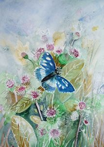 Purple Emperor Butterfly and weeds. - Sheilah's Art