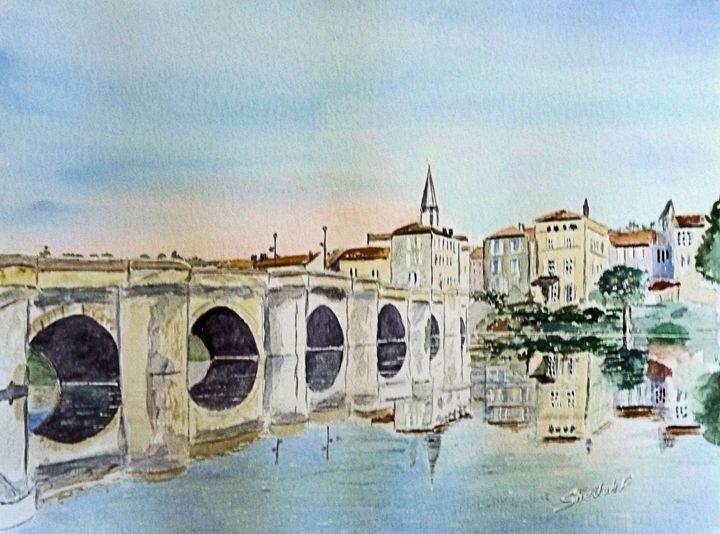 The Old Bridge in Confolens - Sheilah's Art