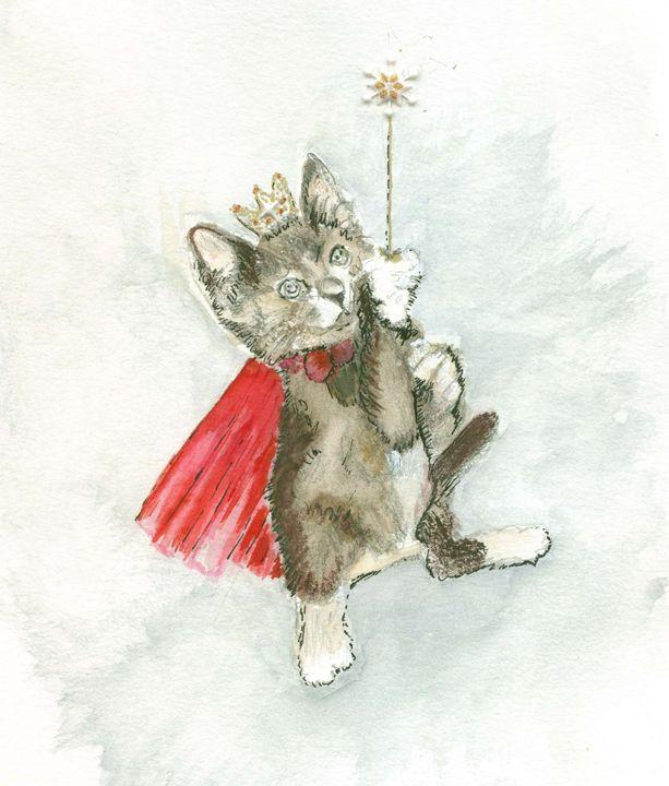 Kitten with a magic wand - Sheilah's Art