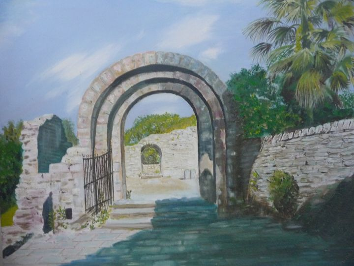 L'Hospitalet, A ruined Abbey - Sheilah's Art