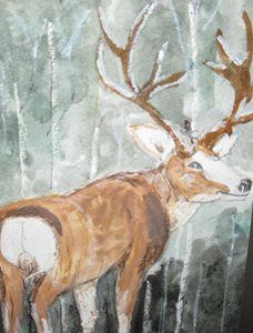 Buck in the Birch