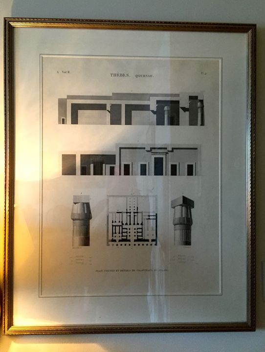 French prints of Egyptian Temple - Patricia Ann Mazzola gallery