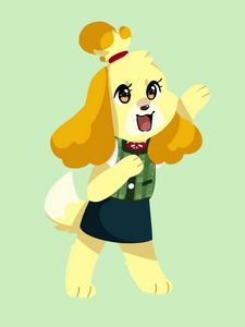 Isabelle from Animal Crossing!