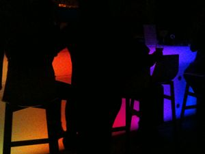 Abstract Silhouette at dance bar, DC