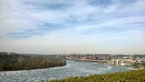 frozen beauty of Potomac River