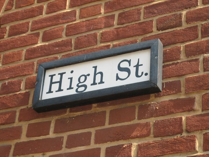 High Street sign at Harpers Ferry - bluemeteor