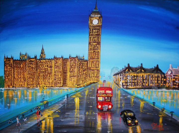 One evening at London Westminster - Dilber's Gallery