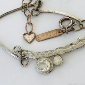 Rustic and pure necklace