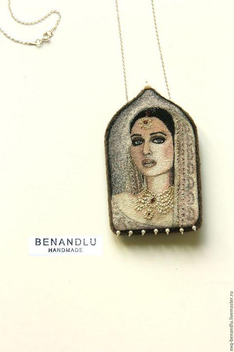 Oriental beauty pendant-brooch - BENANDLU Art - Evgenia Alexeeva