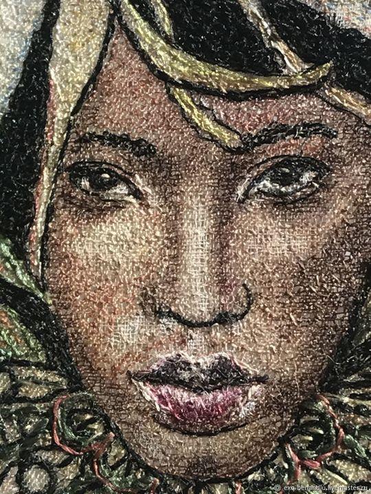 African beauty pendant-brooch - BENANDLU Art - Evgenia Alexeeva